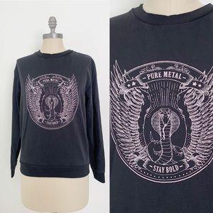 H&M Pure Metal Snake Python Graphic T shirt medium